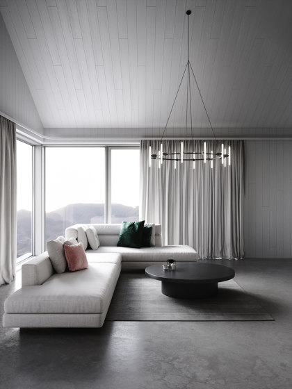 Black Round Chandelier by Beem Lamps