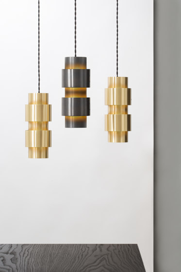 Ring pendant satin brass by CTO Lighting