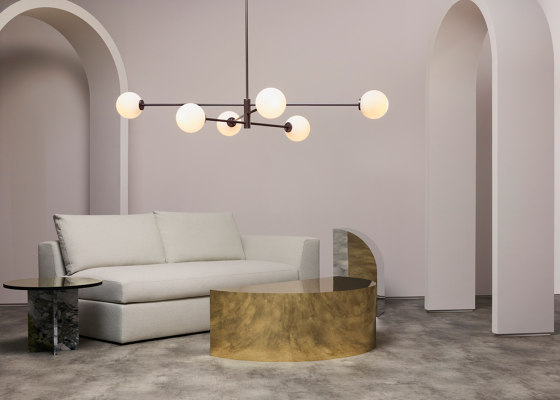 Trevi pendant 3 bronze by CTO Lighting