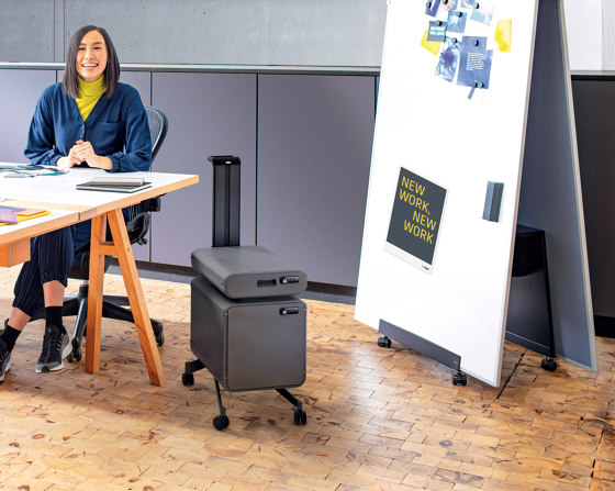 """Meeting"" Office Caddy, mobile pedestal by Sigel"