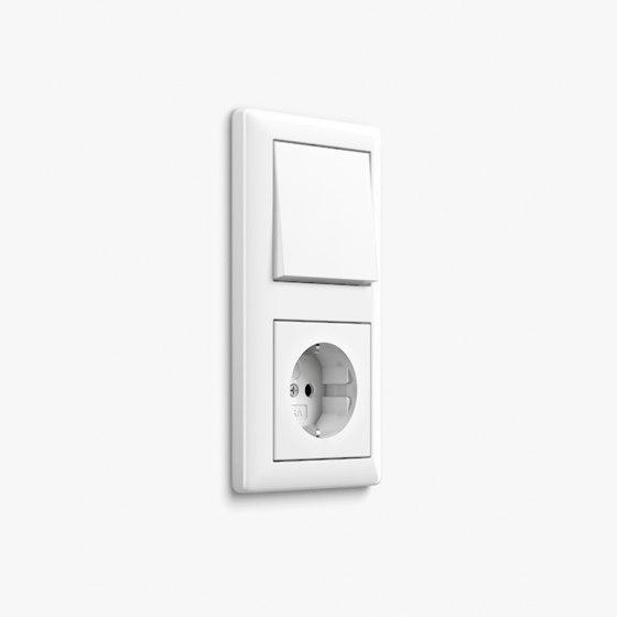 Standard 55 | Switch Pure white matt by Gira