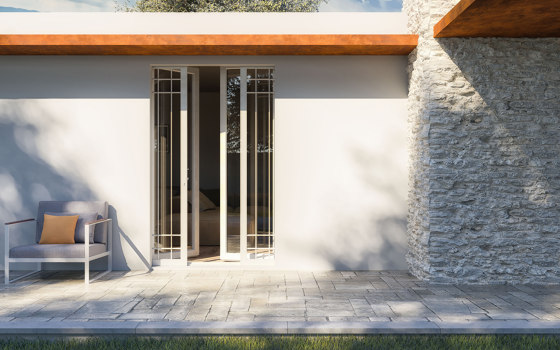 BELLAVISTA Sliding system for gate or shutter with insulation by Ermetika