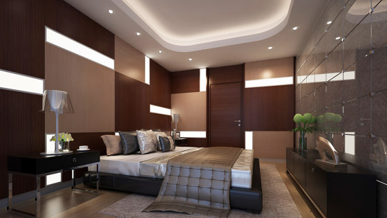 Bisa Panel Oak (With White Led Lighting Element) by Mikodam