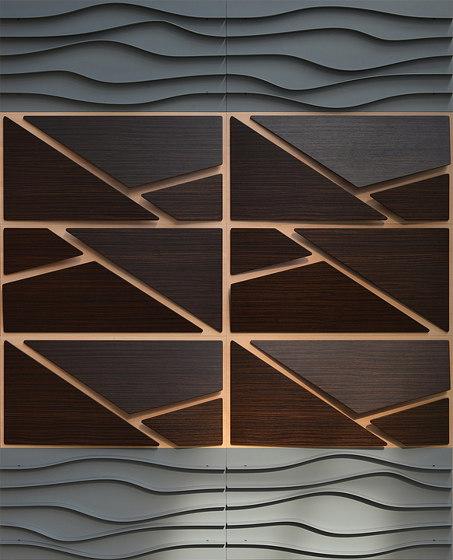 Deta Panel Grey Lacquer Matte & Teak by Mikodam