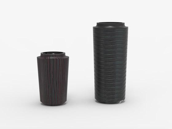 Makino large cracks vases by Hiyoshiya