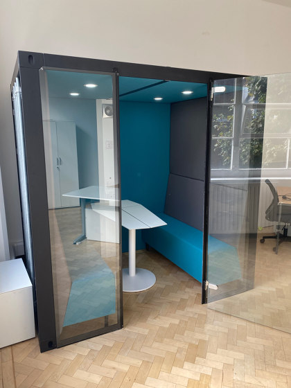 Container Box with Solid Back Panel by The Meeting Pod