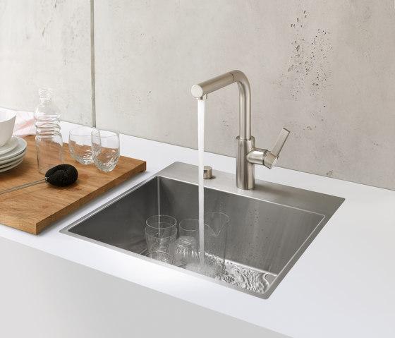 Kitchen sinks in brushed stainless-steel - Single sink by Dornbracht
