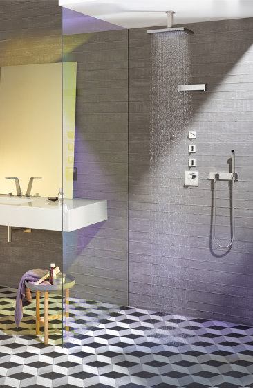 Rain Showers | LULU - Rain shower with wall fixing by Dornbracht