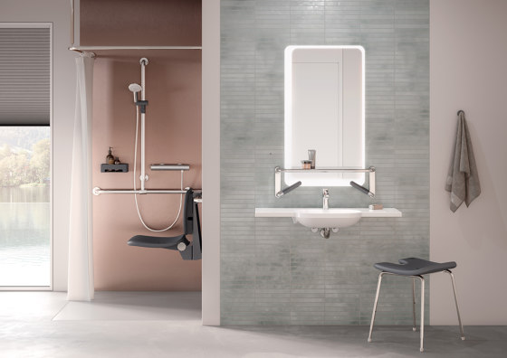 Shower stool by HEWI