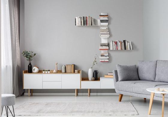 U White Floating Wall Shelf by Teebooks