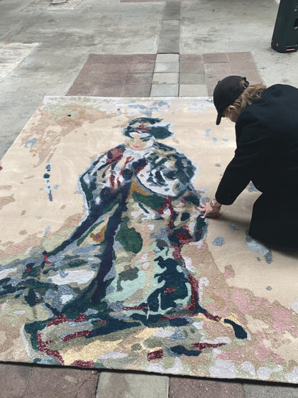 Japanese paintings | Callas/butterfly (VII) by Jasper Krabbé by Frankly Amsterdam