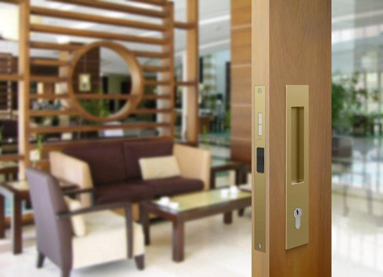 Mardeco 8104 M-Series Flush Pull Euro Lock Set Bronze by Mardeco International Ltd.