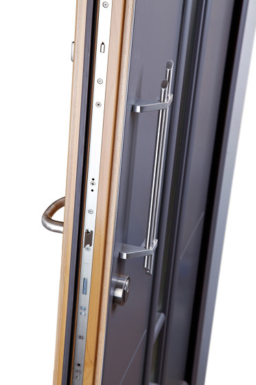 Aluminum clad wood entry doors   History Type 1205 by Unilux