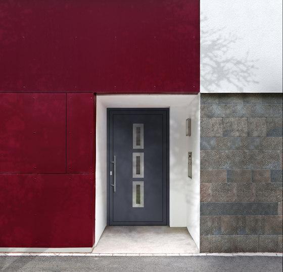 uPVC entry doors   IsoStar Model 7117 by Unilux