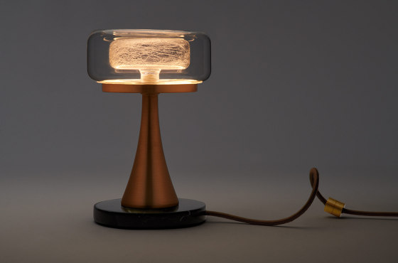 Halo Table Lamp - Gold Drizzle by Shakuff
