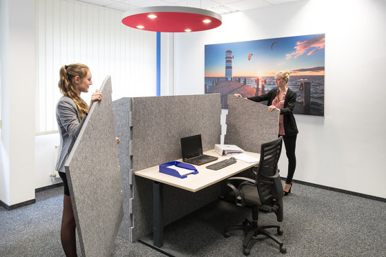 ATG silent.desk - one-sided connector by silent.office.wall