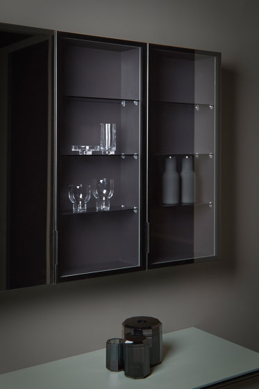 Strato Wall mounted cabinets and mirror cabinets by Inbani