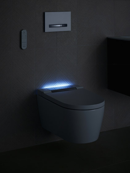 AquaClean   Sela wall-hung WC gloss chrome by Geberit