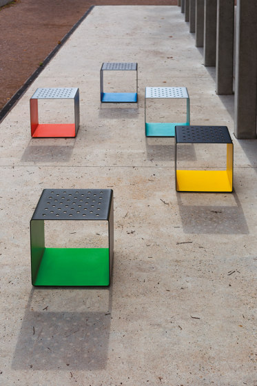 radium   Park bench with armrest by mmcité