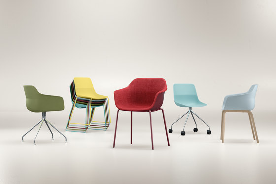 crona felt Armchair 6327/A by Brunner