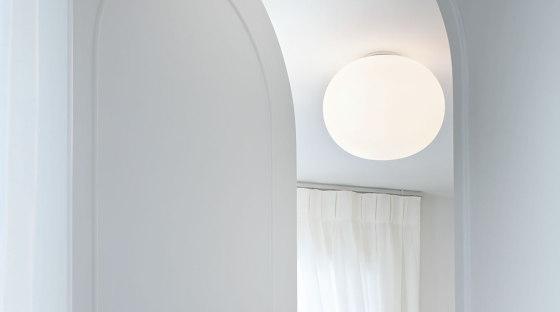 Mini Glo-Ball Ceiling/Wall Mirror by Flos