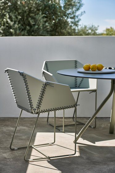 Textile Dining Armchair by GANDIABLASCO
