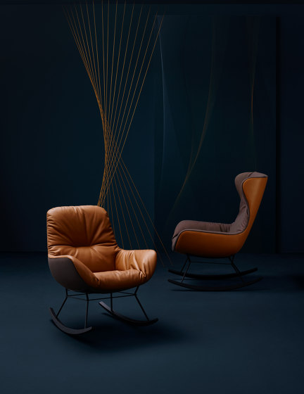 Leya | Wingback Chair with wire frame & Ottoman de Freifrau Sitzmöbelmanufaktur