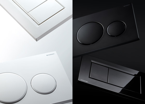 Actuator plates | Sigma80 mirrored by Geberit
