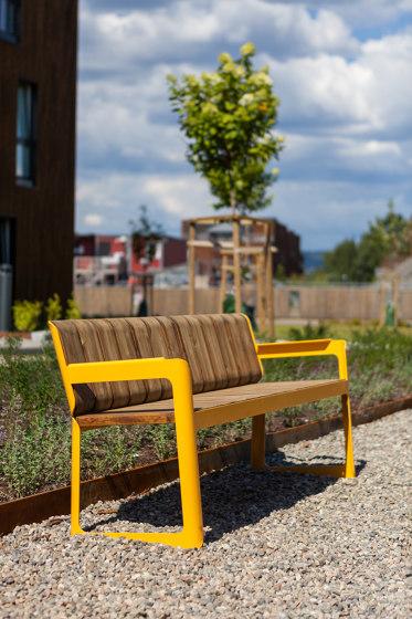 Air bench with backrest de Vestre
