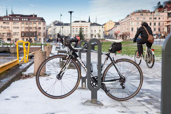 Looper bicycle rack by Vestre