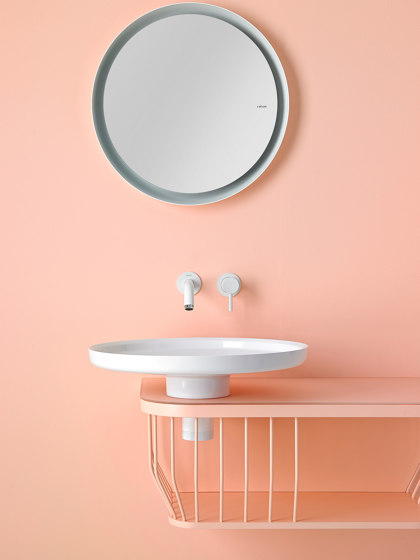 Bowl Wall Mounted Mirror with Metallic Tubular Frame by Inbani