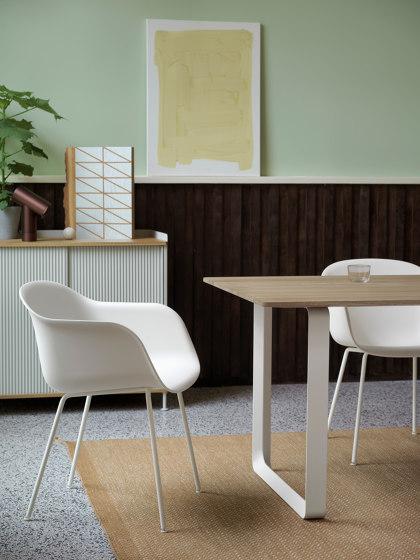 Fiber Armchair | Swivel Base With Castors by Muuto