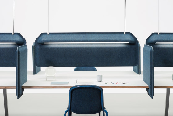 AK 2 Hanging Workplace Divider Lamp by De Vorm