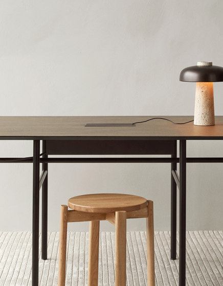Snaregade Dining Table | Oval Black/ Charcoal by MENU