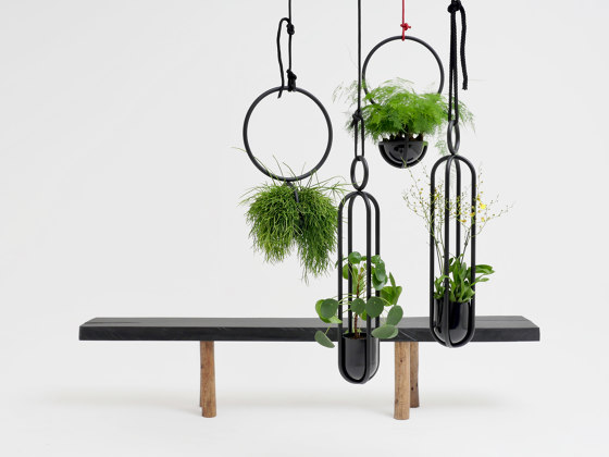 Blumenampel Edition hanging room object by Atelier Haußmann