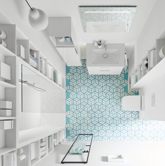 Eqio | Ceramic washbasin incl. vanity unit by burgbad