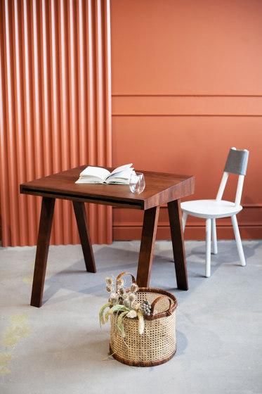 4.9 Writing Desk, 2 drawers, brown by EMKO