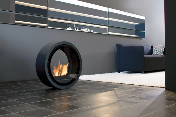 Roll Fire Ethanol Fireplace by conmoto