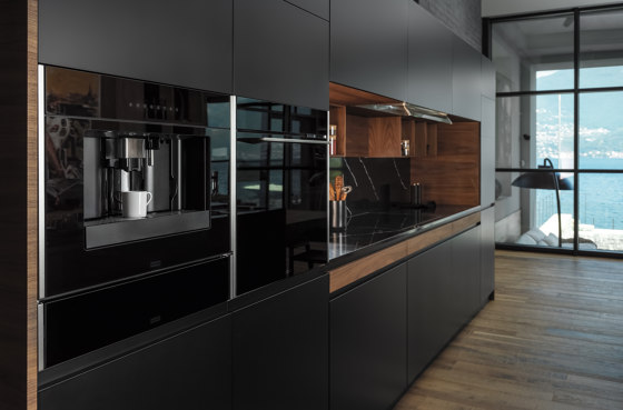 Frames by Franke Multifunctional Oven Touch with Pyrolyse FMO 45 FS Stainless Steel Glass Black by Franke Kitchen Systems