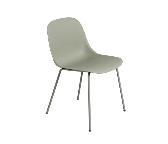 Fiber Side Chair | Swivel Base With Castors | Leather von Muuto