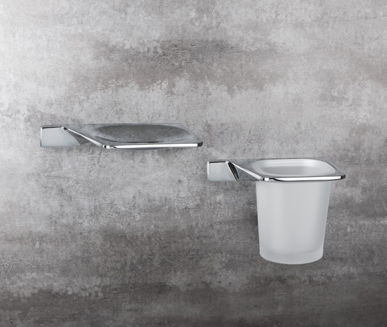 Standing soap dish holder by COLOMBO DESIGN
