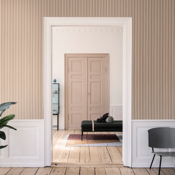 Wallpaper Thick Lines - grey/off white by ferm LIVING