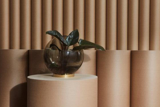 Globe | vase w. stand medium by AYTM