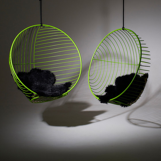Bubble Hanging Chair Swing Seat - Sun Pattern by Studio Stirling