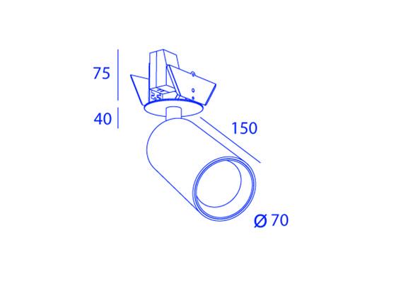 SCENIC TUBED 1X  COB LED von Orbit