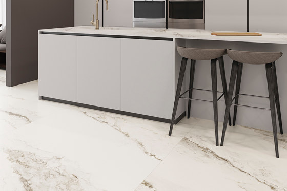 Larsen Super Blanco-Gris High-gloss Polished de INALCO