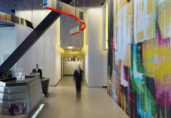 Wallcovering Curved Hall by Kriskadecor