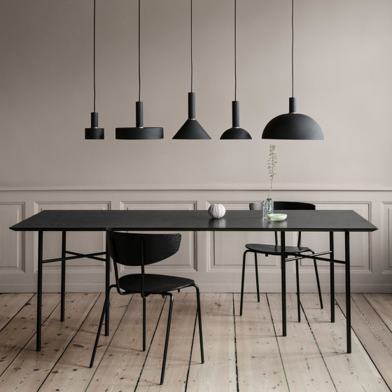 Socket Pendant Low - Black | Dome Shade - Black by ferm LIVING