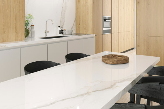 Larsen iTOP Super Blanco-Gris High-gloss Polished de INALCO