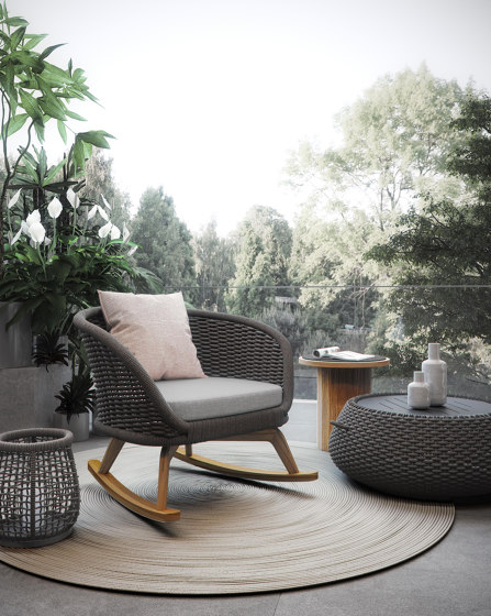 Ludo Rocking Armchair by Atmosphera